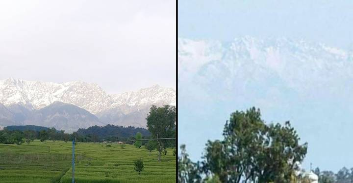 The Himalayas Are Visible In Parts Of India Over 100 Miles Away