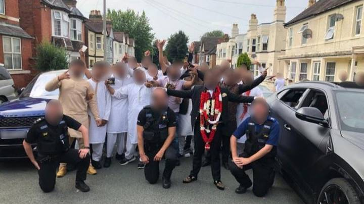 Cops Slammed After Ignoring Social Distancing To Pose With Wedding Guests