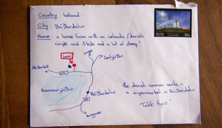 Postie Delivered This Letter Based On A Tourist's Map Instead Of An Address