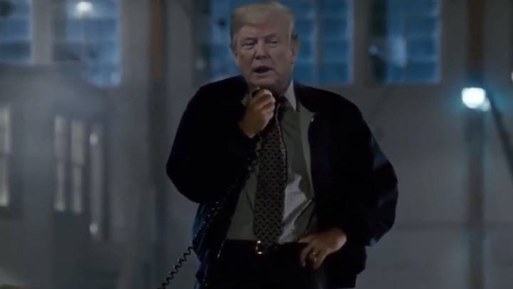 Donald Trump Tweets Bizarre Clip Of Himself Edited Into Independence Day