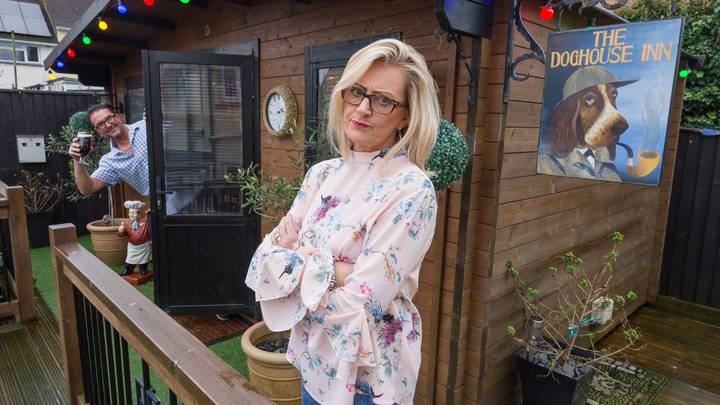 Wife Stops Hubby Disappearing To Local Pub By Building One In Back Garden