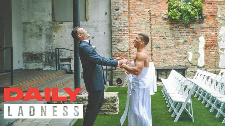 Bride-To-Be Pranks Groom By Dressing Best Man In Wedding Dress