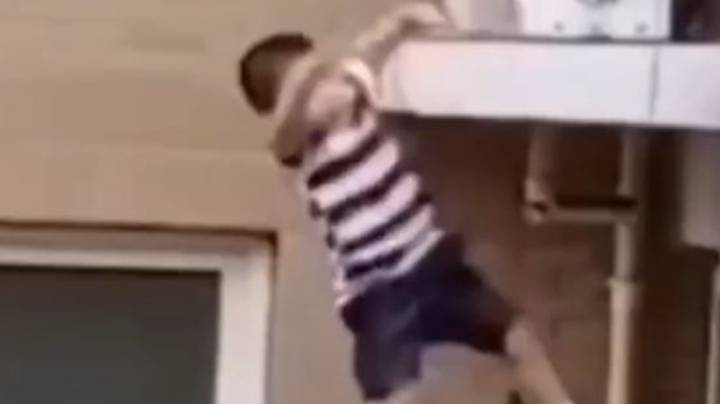 Toddler Caught By Hero After Falling Five Storeys When He Climbed Out Of Window