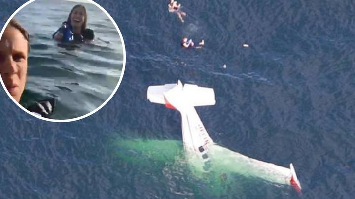 Footage Shows Plane Crash Into Sea And Survivors Laughing And Taking Selfies