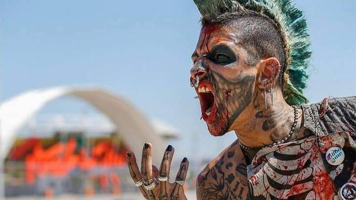 Man Has Spent £11,000 On Body Modifications To Look Like A Zombie