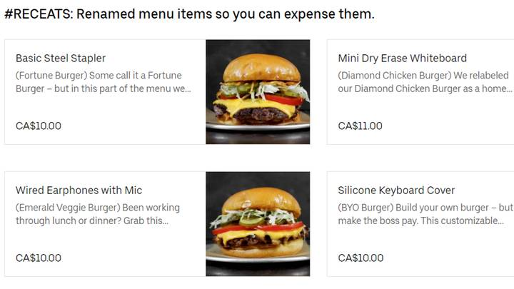 ​Burger Restaurant Renames Menu So You Can Expense Items