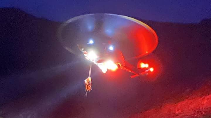 Photo Makes Coastguard Rescue Helicopter Look Like Starship Enterprise