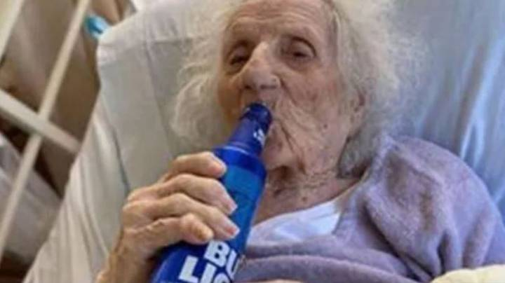 Great-Great-Grandmother, 103, Celebrates Beating Coronavirus By Downing A Beer