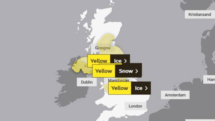 Met Office Issue Snow And Ice Warning In The UK For Tomorrow