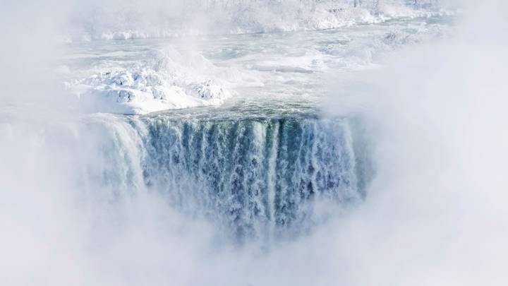 Extreme Cold In North America Causes Niagara Falls To Freeze Over
