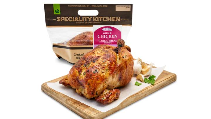 Woolworths Announces New Garlic Bread Flavoured Roast Chickens