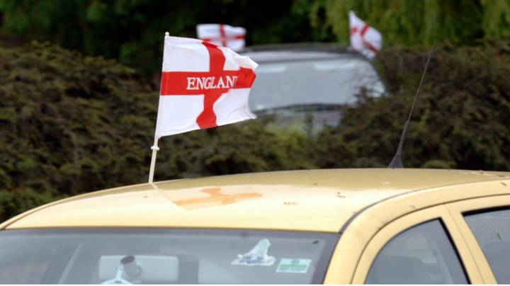You Could Be Fined £1,000 For Flying Flags On Your Car during Euro 2020