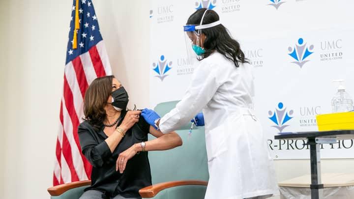 Vice President-Elect Kamala Harris Receives Covid-19 Vaccine On Live TV