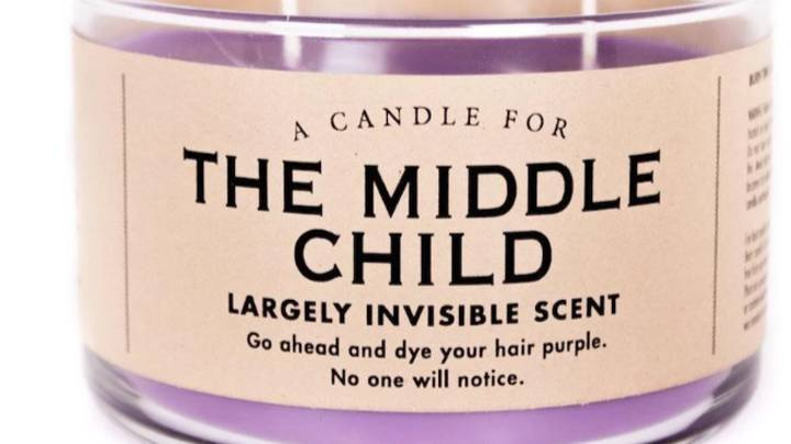 This Candle Is The Perfect Present For Any Middle Child