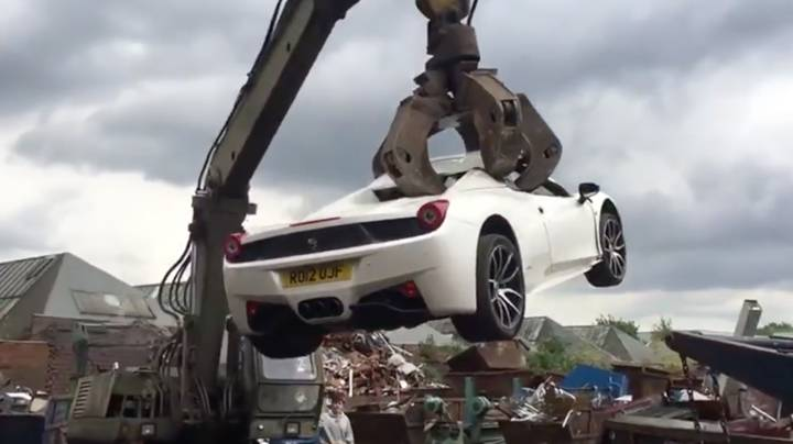 Want To See A £200K Ferrari Spider Get Crushed? You're In Luck