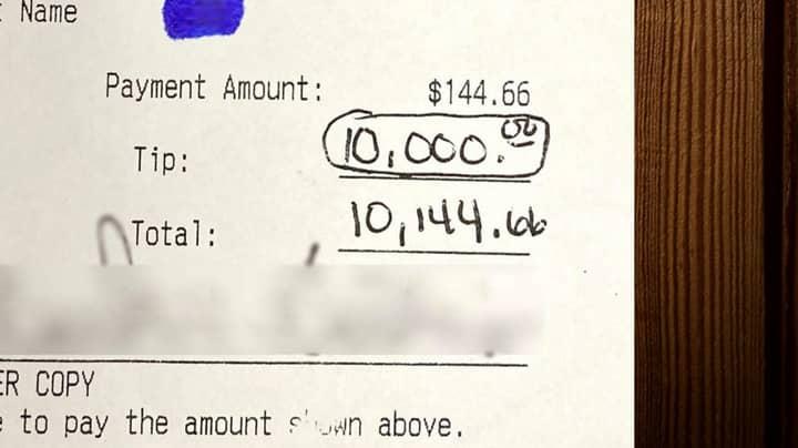 Customer Stuns Restaurant Staff After Tipping Them £700 Each