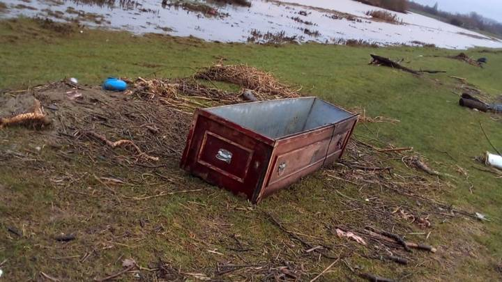 Mystery As Saudi Arabian Coffin Discovered In Flooded UK Field