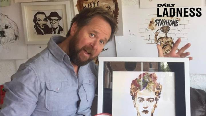 Dad Creates Unique Art Made From Coffee Instead Of Paint