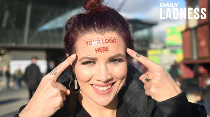 Radio Presenter Selling Advertising Space On Her Forehead For Charity