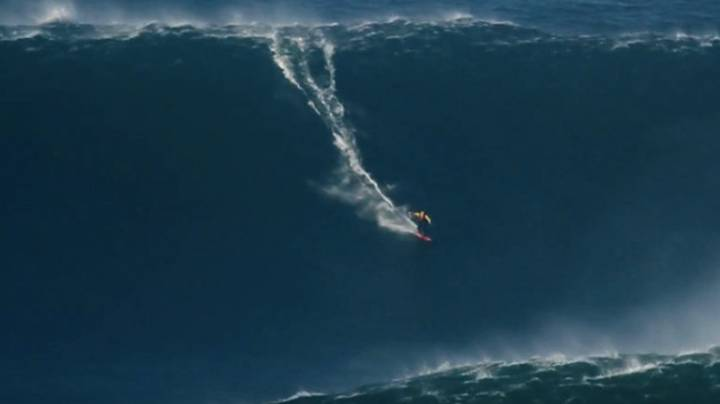 LAD Rides The Biggest Wave Ever Surfed And It's Terrifying