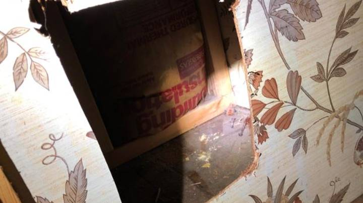 Family Find 40-Year-Old Bathroom Products Which Had Been Disappearing Through Hole In Wall