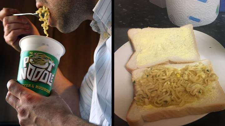 The Internet Is Divided Over Whether Pot Noodle Sandwiches Are OK