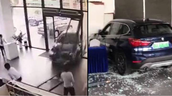Woman Test-Driving BMW Smashes Straight Through Dealership Front Doors