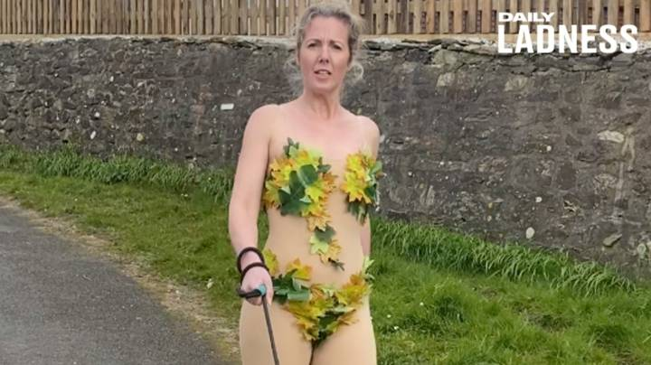 Dancer Wears A Different Bizarre Costume Every Day To Walk Dog
