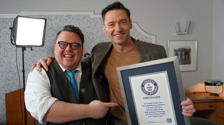 Hugh Jackman Awarded With Guinness World Record To Mark 16-Year Wolverine Career