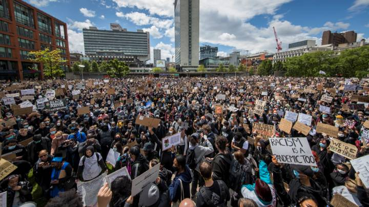 Thousands March Through Streets Of London And Manchester For Black Lives Matter Protest