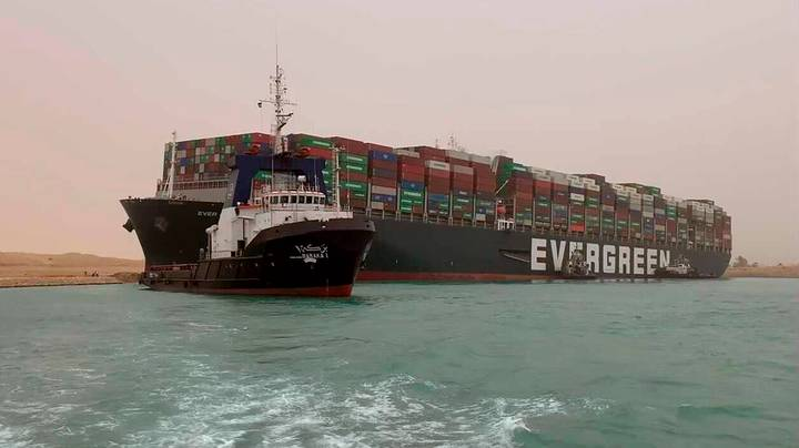 Cargo Ship Drew Giant Penis In Suez Canal Before Getting Stuck