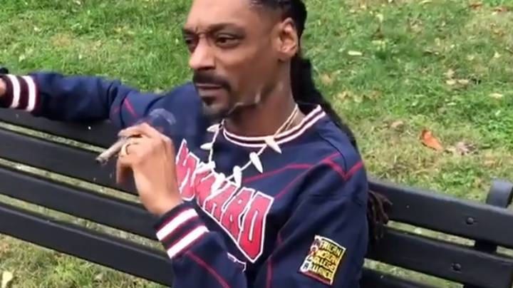 Snoop Dogg Trolls President Trump By Smoking Joint Outside White House