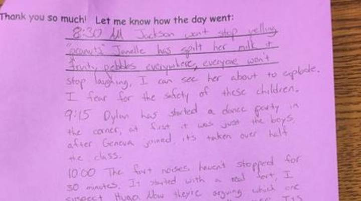 Substitute Teacher Documents Just How Much She Hates Her Job