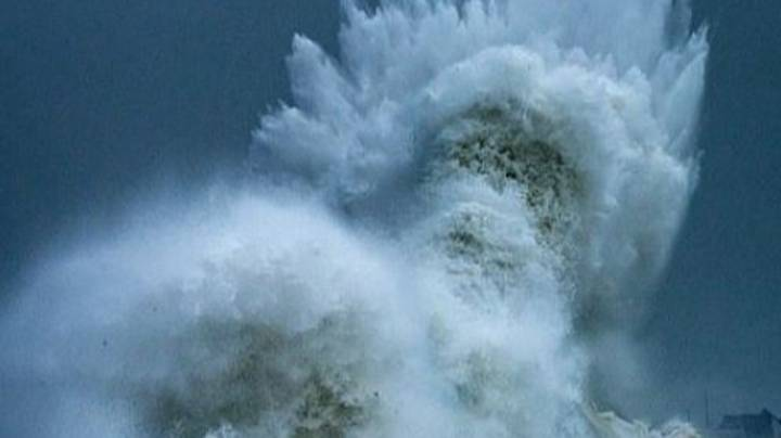 Crashing Wave Appears To Show Face Of Poseidon - God Of The Sea