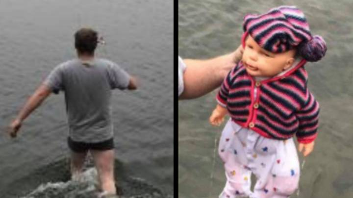 Man Jumps Into Freezing Lake To Save Baby Only To Discover It's A Doll