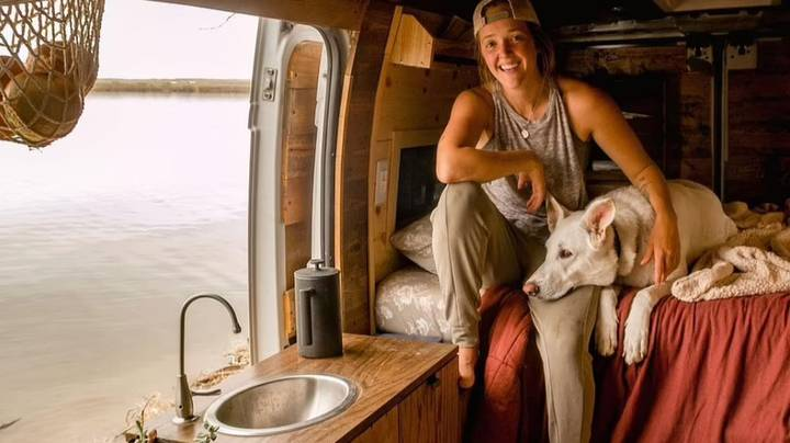 Woman Leaves Job And Five-Year Relationship To Live In Van With Dog
