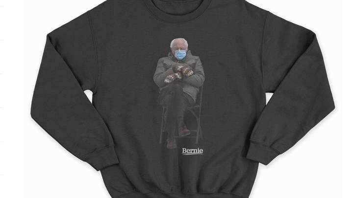 Bernie Sanders Is Selling Sweaters With His Viral Inauguration Photo On Them For Charity