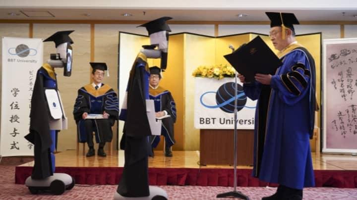 University In Japan Conducts Graduation Ceremony Using Robots Amid Coronavirus Pandemic