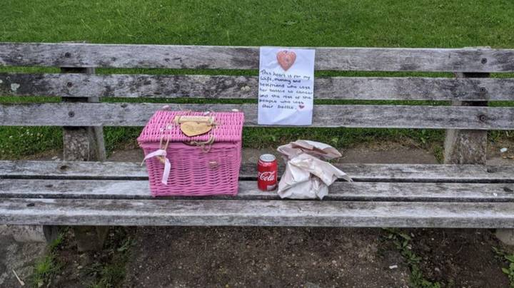 Husband's Heartbreaking Tribute To Late Wife On Bench Goes Viral