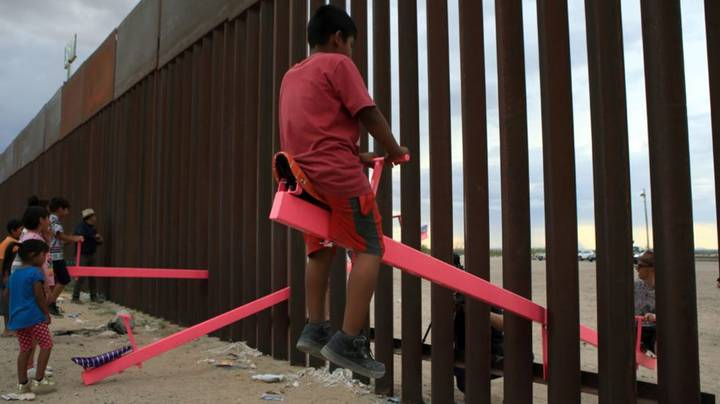 See-Saw Through Border Wall Between USA And Mexico Wins Design Award
