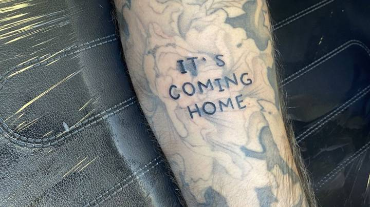 Man Finds Incredible Way To Cover-Up 'It's Coming Home' Tattoo