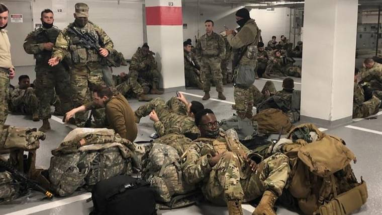 Joe Biden Apologises After National Guards Made To Sleep In Car Park