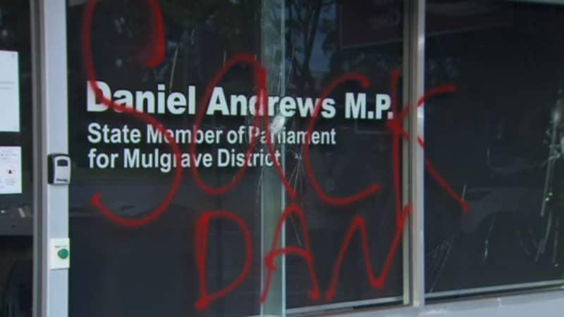 Premier Daniel Andrews' Office Has Been Vandalised