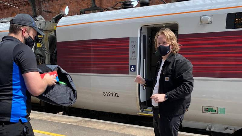 Lewis Capaldi Orders Domino's Pizza To The Train He's Travelling On