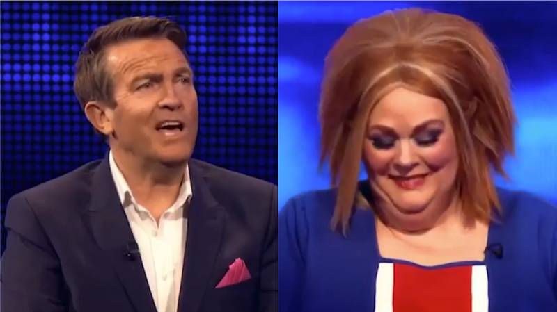 Anne Hegerty Dons Ginger Spice Union Jack Dress For 'The Chase' Christmas Special