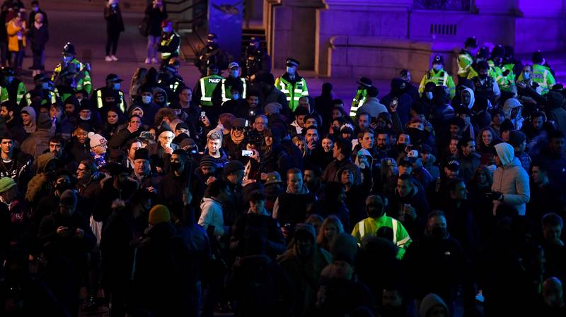 Police Break Up Illegal New Year's Eve Parties In London