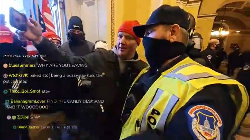 Police Pose For Selfies With Trump Supporters Inside Capitol Building