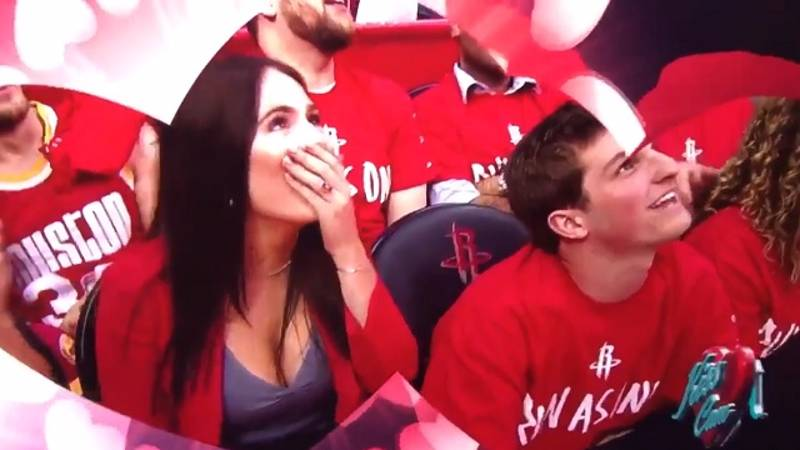 Guy Crashes Into The Friend-Zone Head First On Kiss Cam