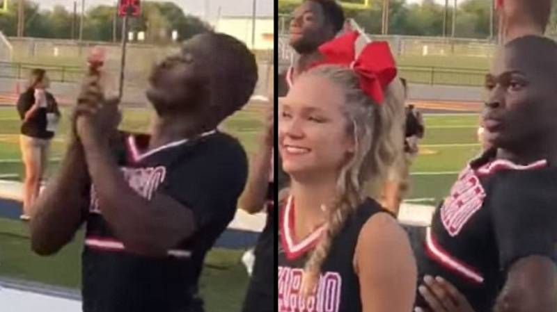 College Cheerleader's Enthusiastic Routine Goes Viral