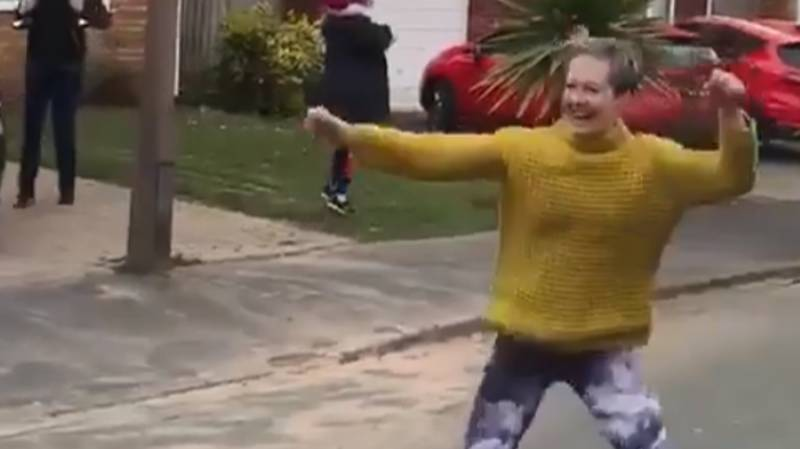 Woman Gets Her Neighbours Out Dancing To Absolute Bangers In The Street Each Morning